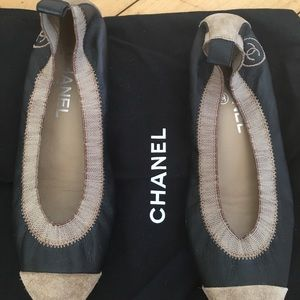 Chanel ballet flats used